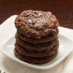 Salted Chocolate Truffle Cookies