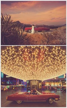Red Rock and The Plaza Hotel | Las Vegas Wedding | photo: W. Scott Chester | idea for ceremony in the desert, reception at hotel?