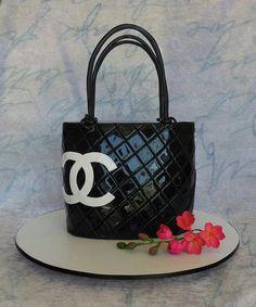 265d7a04e9 coco chanel purse cake looks really realistic!!! Luggage Cake
