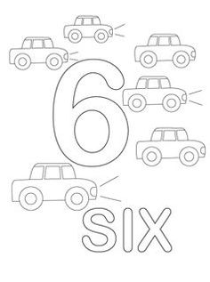 number coloring pages 1-10. Use these pages to make a