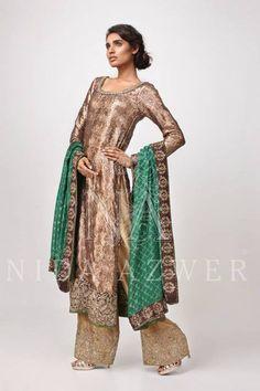Nida Azwer https://www.facebook.com/nidaazwerfashionhouse Karachi, 2014 Suit