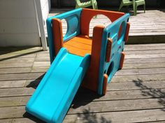 Little Tikes Cube and Slide revamp with plastic paint | The Mama Mama