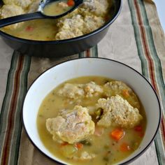 Healthier Chicken Pot Pie with Homemade Biscuits