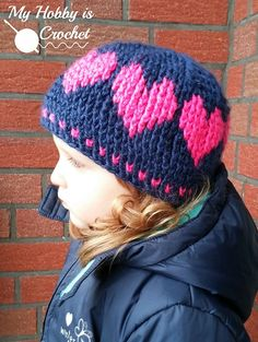 A Hat With Love By Kinga Erdem - Free Crochet Pattern - (ravelry)