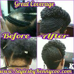 Crochet Braids Alopecia : Crochet Braids 2 Cover Alopecia www.stylesbykennycoo.com www.facebook ...