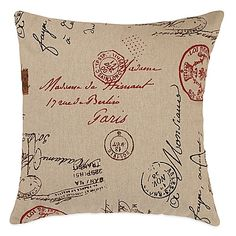 The French Postale Square Throw Pillow will transport you to Paris with a vintage post card design from the City of Lights. This super-chic pillow…