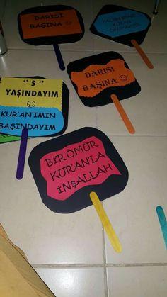 Değerler eğitimi Art N Craft, Handicraft, Islam, Religious Education, Craft, Craft Items, Artesanato