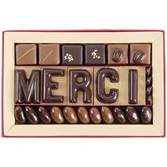 Jadis et Gourmande - Boite Message Merci 185g - Lettres chocolat - Assortiment de chocolat haut de gamme - Cadeau chocolat original: Cet…