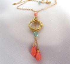 Coral Mermaid Necklace by MariCollection on Etsy, $55.00