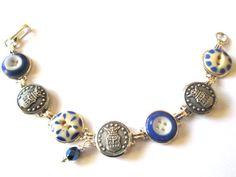 USAFA mom, USAFA wife, USAFA girlfriend, USAFA cadet! Antique US Air Force button bracelet. Show your support!