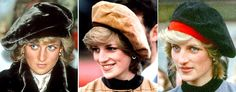 Youthful: Her berets were a more modern option for the twentysomething Princess