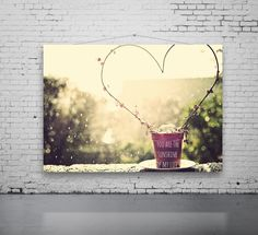 Unique Love Heart Photo, Love Photography, Heart and Ivy Photo, Valentine Art, Romance, Heart Topiary Photo, You Are The Sunshine Of My Life by PhotographyByAnita on Etsy https://www.etsy.com/listing/123758436/unique-love-heart-photo-love-photography