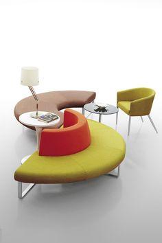 Colorful Office Furniture Modern combination Fabric breakout Sofa Set, Fabric waiting reception sofa lounge