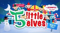 5 Little Elves Christmas song for kids.  Great for preschoolers and kindergarteners.  #christmas #preschool #kindergarten