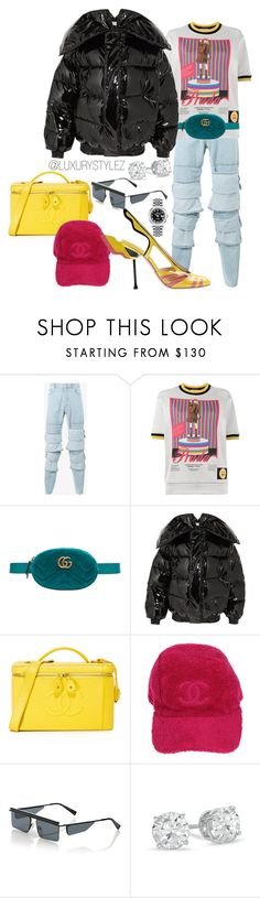"""LUXURYSTYLEZ  WOMENS FASHION , DOPE FASHION, STREET WEAR,"" by luxurystylez on Polyvore featuring Y/Project, Prada, Gucci, Vetements, Chanel, Le Specs and Rolex"
