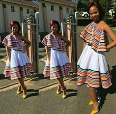 Pedi Traditional Attire, Sepedi Traditional Dresses, South African Traditional Dresses, Traditional Wedding, African Dress Patterns, African Dresses For Kids, African Fashion Dresses, African Clothes, Xhosa Attire