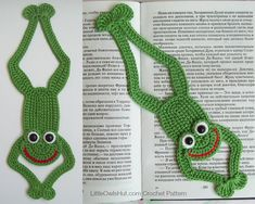 061 Frog Bookmark or decor Amigurumi Crochet от LittleOwlsHut