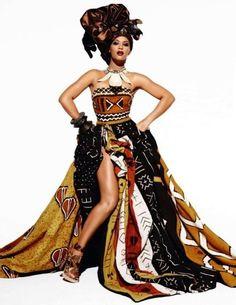 Beyonce for Vogue ~African fashion, Ankara, kitenge, African women dresses… African Dresses For Women, African Attire, African Wear, African Women, African Style, African Beauty, African Inspired Fashion, African Print Fashion, Africa Fashion