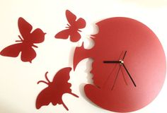 Relogio de Parede borboletas - Frete Gratis - Gifts and Co.