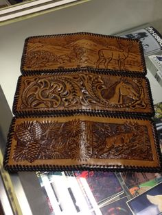 Custom leather wallets available at Charisma on 5th Street. #custom #leather #wallet