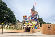 The Movement Café is a temporary pop up container cafe serving local and seasonal food to spectators headed to Greenwich Park.