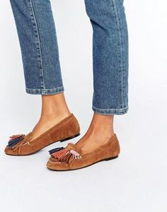 f60163249d0 ASOS MYLA Suede Tassel Flat Shoes at asos.com