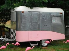 1956 Carapark, 'Space Toaster' with flamingo friends. source unkown