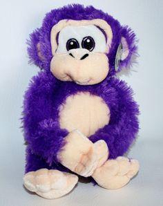 NWT Goffa PURPLE GORILLA  Monkey Ape Plush Stuffed Animal Squishy Soft lovey #GoffaPeekABooToys