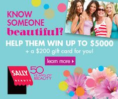 Tri Cities On A Dime: SALLY BEAUTY - BEAUTY GIVEAWAY (OVER $12,000 IN CA...