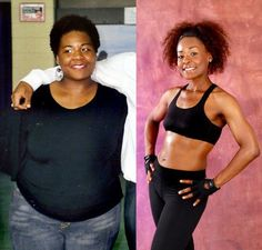 Great success story! Read before and after fitness transformation stories from women and men who hit weight loss goals and got THAT BODY with training and meal prep. Find inspiration, motivation, and workout tips | Shana Dezelle drops 95 pounds eating raw food