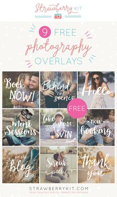 Take Photos Sell them and Earn Money - Social Media Photography Overlays (FREE) Take Photos Sell them and Earn Money - Photography Jobs Online Photography Marketing, Photography Lessons, Advertising Photography, Photography Editing, Photography Business, Photography Tutorials, Digital Photography, Photo Editing, Photography Ideas