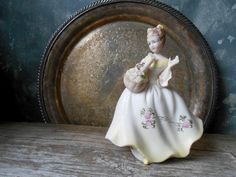 Featured here ... by Anita on Etsy--Pinned with TreasuryPin.com Victorian Girl Nightlight Figurine With Basket of Roses: Vintage Ardalt Lenville Porcelain Bisque Girl Nighlight Figurine Made in Japan by Untried on Etsy