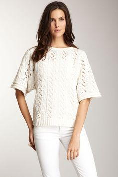 HauteLook Spiegel Short Sleeve Crochet Knit Top