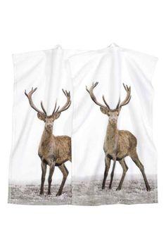 for my mum Lot de 2 serviettes invité   H&M