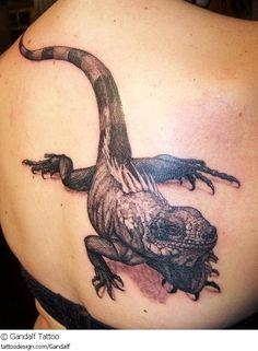 Tattoo Echse Leguan Iguana