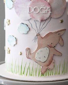 Dear little bunny. Sugar Art, Bunny, Characters, Cake, Desserts, Food, Tailgate Desserts, Cute Bunny, Deserts