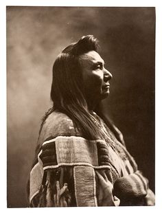 Profile portrait of the Nez Perce Chief Joseph likely taken by Wells Moses Sawyer,