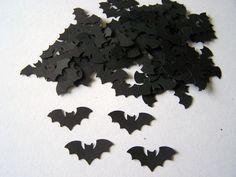 100 Halloween Black Bats Die Cuts Punch Cutouts Confetti Embellishment Scrapbook. $2.00, via Etsy.