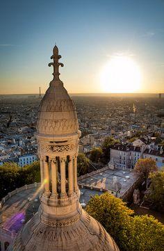 A view of Paris from Sacré Coeur.