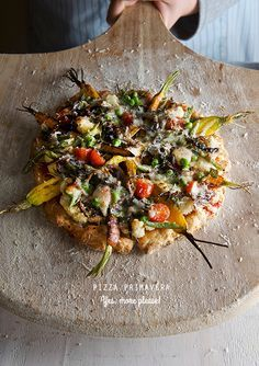 Pizza Primavera, a great way to welcome spring! and it happens to be gluten free