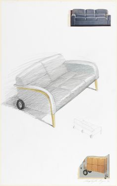 Drawing, Design for a Sofa, 1993