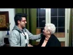 Piero Barone sings Mamma to nonna Pina!