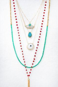 White Solar Quartz Bezel Necklace by keijewelry on Etsy