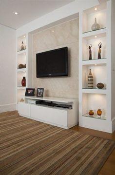 Amazing TV Unit Design Ideas For Your Living Room - Tv room design Living Room Tv Unit Designs, Room Design, House Interior, Tv Unit Decor, Tv Room Design, Living Room Wall Units, Living Design, Living Room Designs, Room Interior
