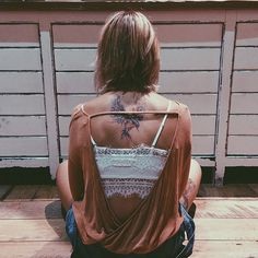 Sexy boho chic lace crop top and hippie oversize cover up. For the BEST 2015 Bohemian fashion trends FOLLOW http://www.pinterest.com/happygolicky/the-best-boho-chic-fashion-bohemian-jewelry-gypsy-/ now
