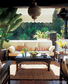 Ben Stiller and Christine Taylor's porch by Robin Standefer and Stephen Alesch of Roman and Williams