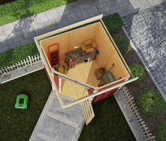 Tuinhuis Schwandorf 3 uit de Woodfeeling collectie van het Duitse A-merk Karibu is een zogenaamd hoektuinhuis, die perfect in een hoek van je tuin geplaatst kan worden. Deze moderen houten blokhut met plat dak biedt volop ruimte voor al je gereedschap. Tuinhuis Schwandorf 3 van het merk Karibu is van top kwaliteit onbehandeld Scandinavisch vuren hout en heeft de afmetingen 213 x 217 x 218 cm. Bath Caddy, Products, Gardens, Shed Houses, Windows And Doors, Home And Garden, Rain, Gadget