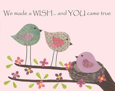 We made a wish  Nursery or children's room artwork by LullabyArt, $12.00