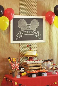 Classic Mickey Mouse Party Ideas