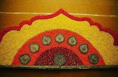 Engagement Decorations, Flower Decorations, Indian Wedding Planner, Wedding Planners, Flower Rangoli, Haldi Ceremony, Wall Backdrops, Wedding Sutra, Rangoli Designs